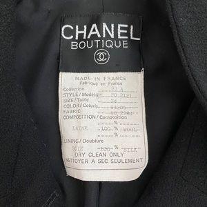 CHANEL Jackets & Coats - CHANEL Vintage Black Custom Jacket 93A